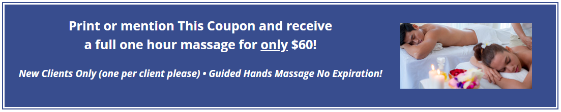 Print or Mention This Coupon and Receive a Full One Hour Massage for Only $60!